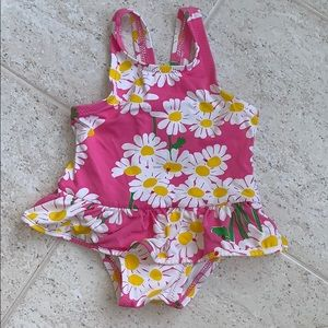 Lily Pulitzer flower tutu swimsuit 6-12m